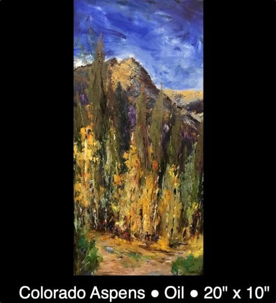 Colorado Aspens Oil 20%22 x 10%22 IMG_5771 caption